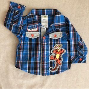 Disney Tigger button down shirt